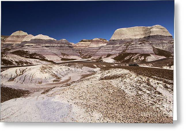 Petrified Forest National Park Greeting Cards - Blue Mesa Landscape Greeting Card by Adam Jewell
