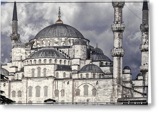 Asian Turkey Greeting Cards - Blue Mosque Greeting Card by Joan Carroll
