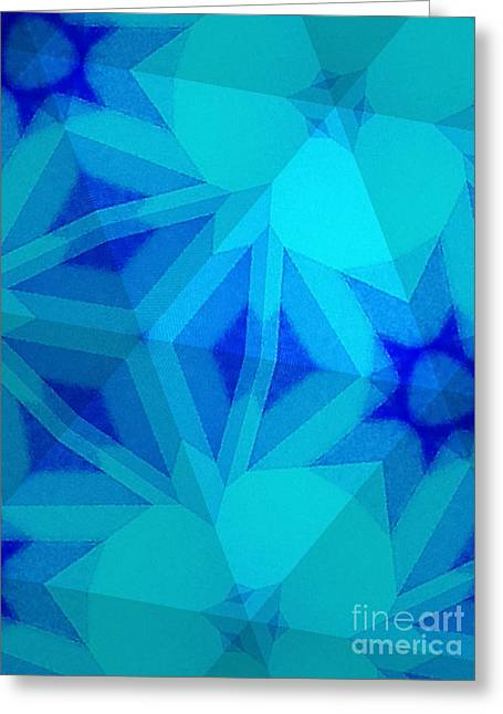 New Tapestries - Textiles Greeting Cards - Bluish Greeting Card by Erik Stoneburner