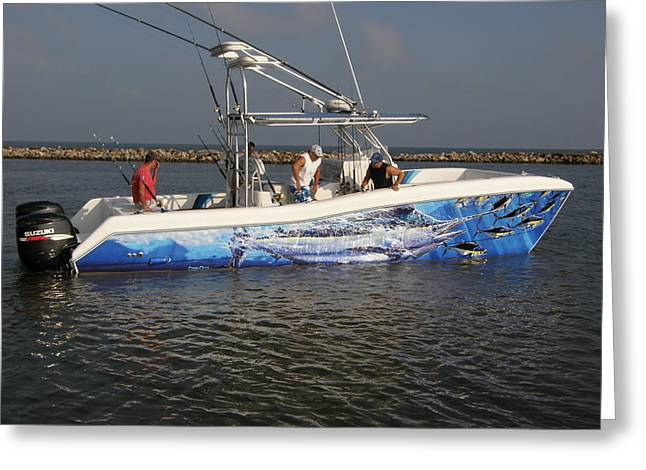 Pathfinder Greeting Cards - Boat Wrap Greeting Card by Carey Chen