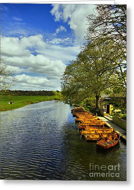 Constable Greeting Cards - Boathouse Restaurant On The Stour Greeting Card by Darren Burroughs