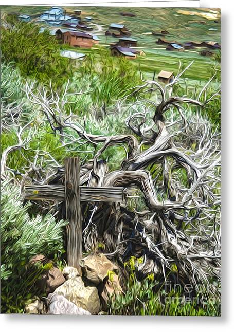 Bodie Ghost Town - Boot Hill 02 Greeting Card by Gregory Dyer