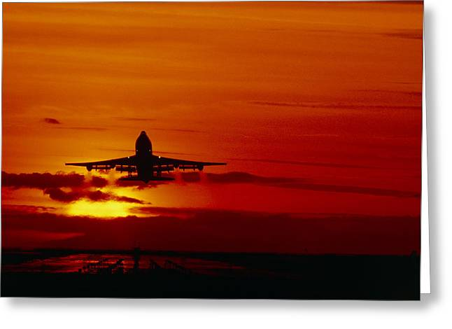 Boeing 747 Photographs Greeting Cards - Boeing 747 Greeting Card by David Nunuk