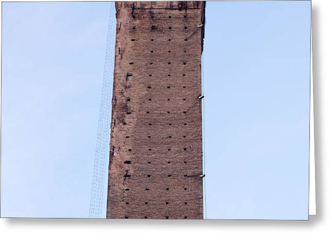 Bologna Tower Greeting Card by Andre Goncalves