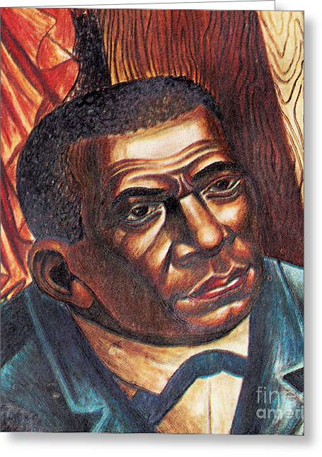 Jim Crow Era Greeting Cards - Booker T. Washington, African-american Greeting Card by Photo Researchers
