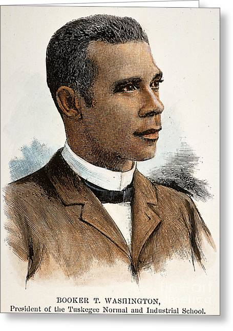 African-american Institute Greeting Cards - Booker T. Washington Greeting Card by Granger