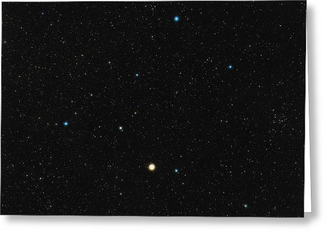 Arcturus Greeting Cards - Bootes Constellation Greeting Card by Eckhard Slawik