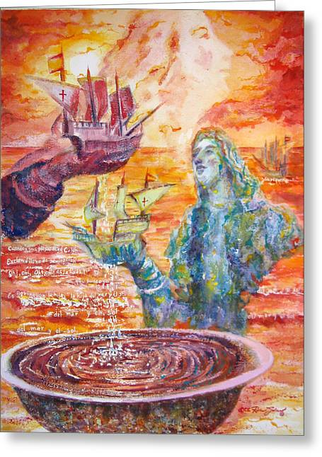 Pinturas Del Viejo San Juan Greeting Cards - Borinquen Greeting Card by Estela Robles