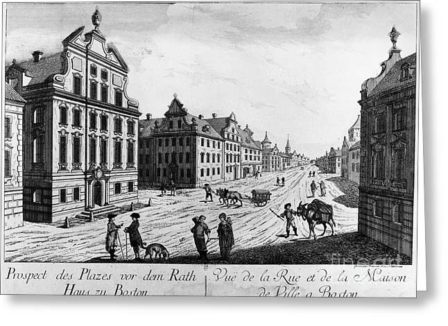 Boston, 1770s Greeting Card by Granger