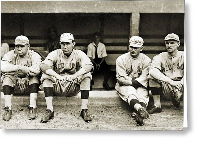 Dellos Greeting Cards - BOSTON RED SOX, c1916 Greeting Card by Granger