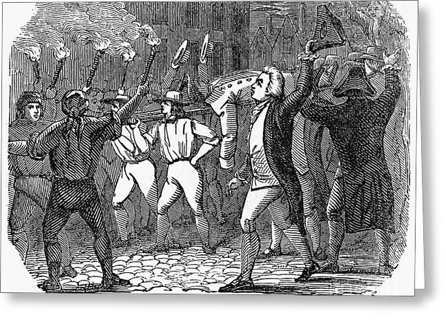 Protesters Greeting Cards - Boston: Stamp Act, 1765 Greeting Card by Granger