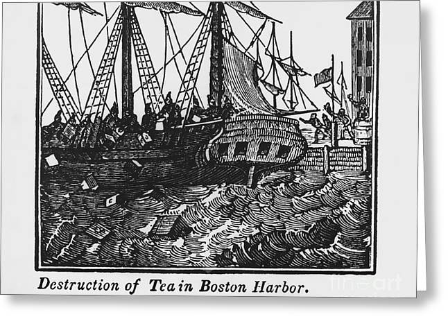 Overboard Greeting Cards - Boston Tea Party, 1773 Greeting Card by Omikron