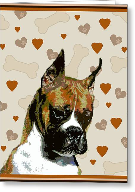 Boxer Greeting Card by One Rude Dawg Orcutt