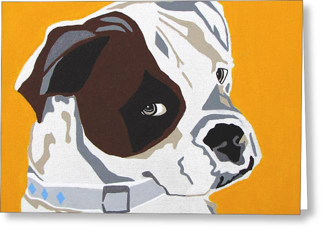 Boxer Dog Greeting Cards - Boxer  Greeting Card by Slade Roberts