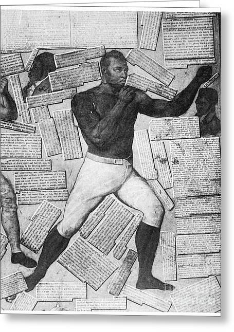 Pierced Screen Greeting Cards - Boxing: Thomas Molineaux Greeting Card by Granger