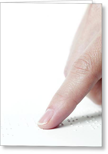 Braille Greeting Cards - Braille Reading Greeting Card by