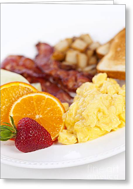 Toast Photographs Greeting Cards - Breakfast  Greeting Card by Elena Elisseeva