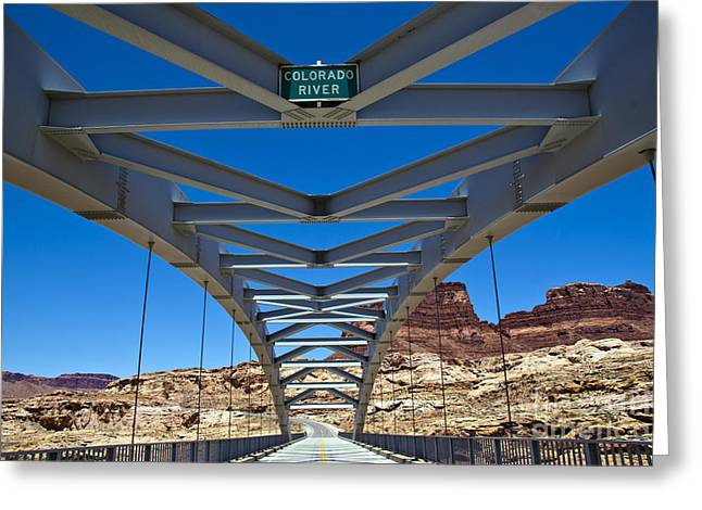 Bridge Across Colorado Greeting Card by Scotts Scapes