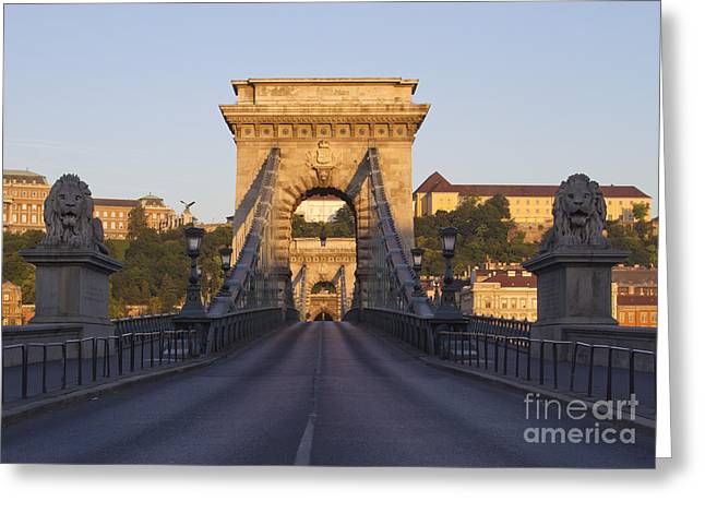 Bridge Greeting Card by David Buffington