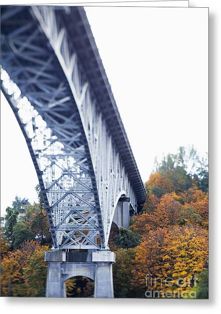 Bridge Footing And Anchor Point Greeting Card by Don Mason