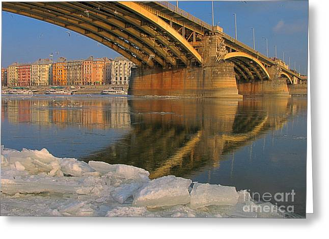 Sweating Greeting Cards - Bridge Greeting Card by Odon Czintos