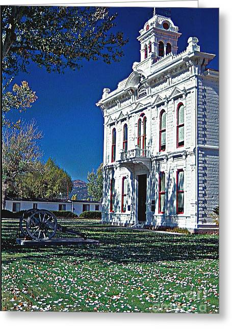 Bridgeport California Greeting Cards - Bridgeport city Hall Greeting Card by Gary Brandes