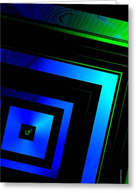 Transparency Geometric Greeting Cards - Brightness over black Greeting Card by Mario  Perez