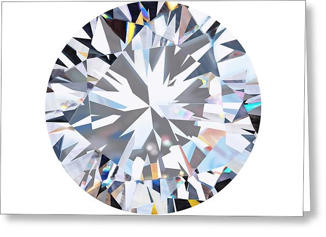 Beautiful Jewelry Jewelry Greeting Cards - Brilliant Diamond Greeting Card by Setsiri Silapasuwanchai