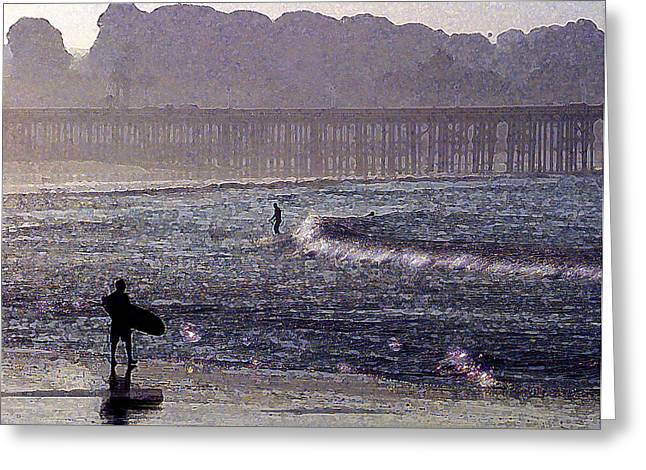 Ventura California Greeting Cards - Bringing it into Shore Greeting Card by Ron Regalado