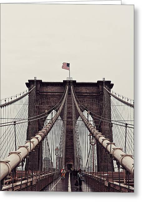 Advertising Office Greeting Cards - Brooklyn Bridge Greeting Card by Benjamin Matthijs