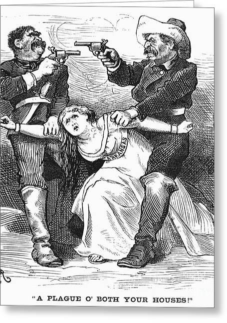 """war Women"" Greeting Cards - Brooks-baxter War, 1874 Greeting Card by Granger"