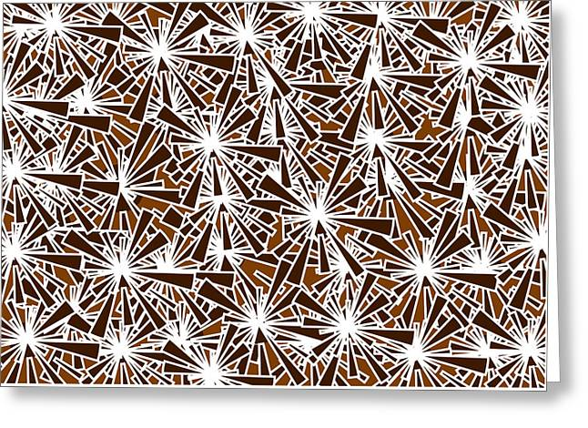 Brown Abstract Greeting Card by Frank Tschakert