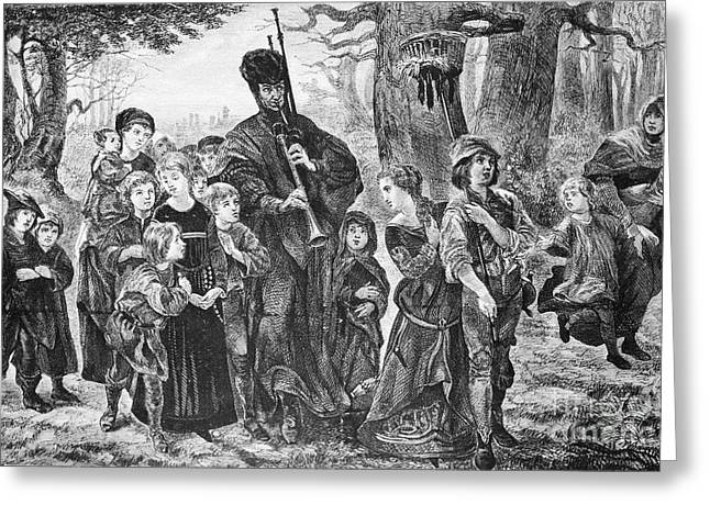 English Folk Music Greeting Cards - Browning: Pied Piper Greeting Card by Granger