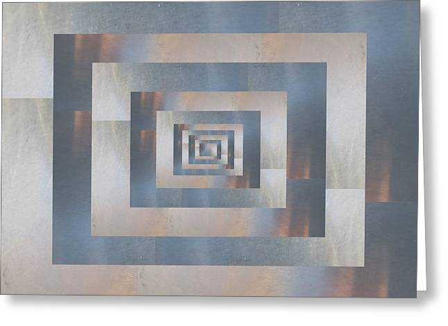 Abstract Geometric Greeting Cards - Brushed 21 Greeting Card by Tim Allen