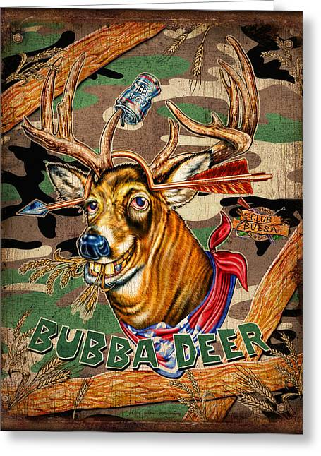 Archery Paintings Greeting Cards - Bubba Deer Greeting Card by JQ Licensing
