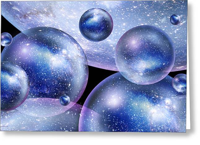 Inflation Greeting Cards - Bubble Universes Greeting Card by Detlev Van Ravenswaay