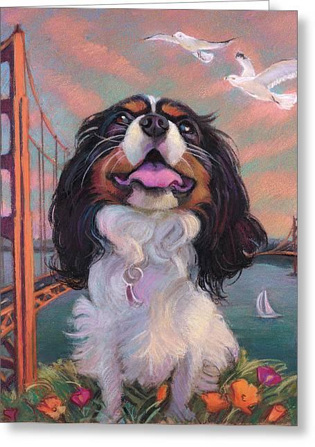 Bay Bridge Pastels Greeting Cards - Buddy Greeting Card by Jane Oriel