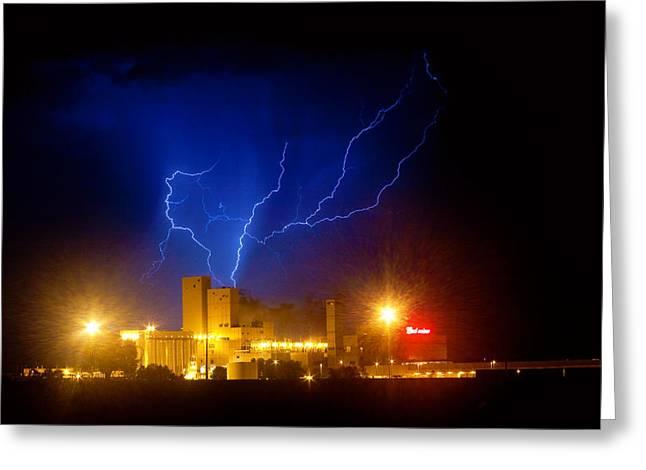 The Lightning Man Greeting Cards - Budweiser Powered by Lightning Greeting Card by James BO  Insogna
