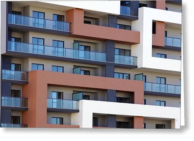 Building facade Greeting Card by Carlos Caetano