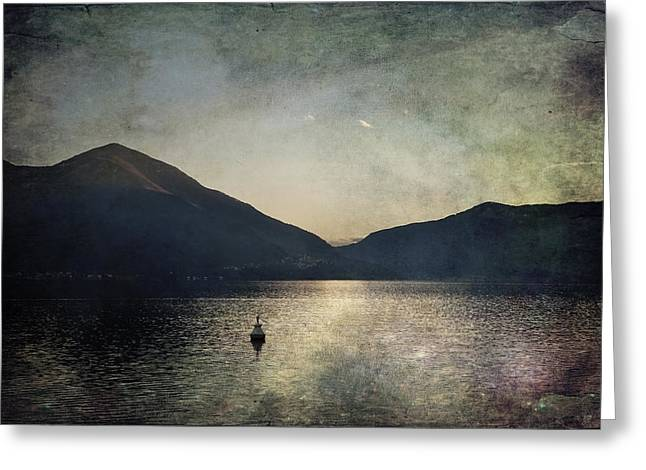 Desert Lake Greeting Cards - Buoy in the sunset Greeting Card by Joana Kruse