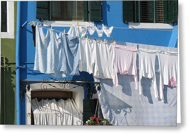 Burano. Venice Greeting Card by BERNARD JAUBERT