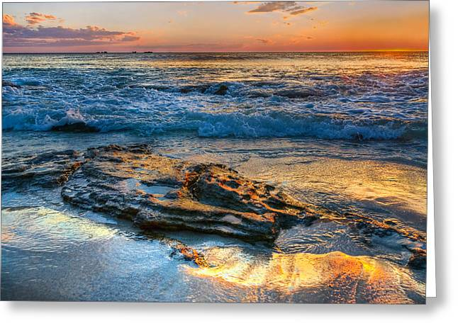 Climate Pyrography Greeting Cards - Burns Beach WA Greeting Card by Imagevixen Photography