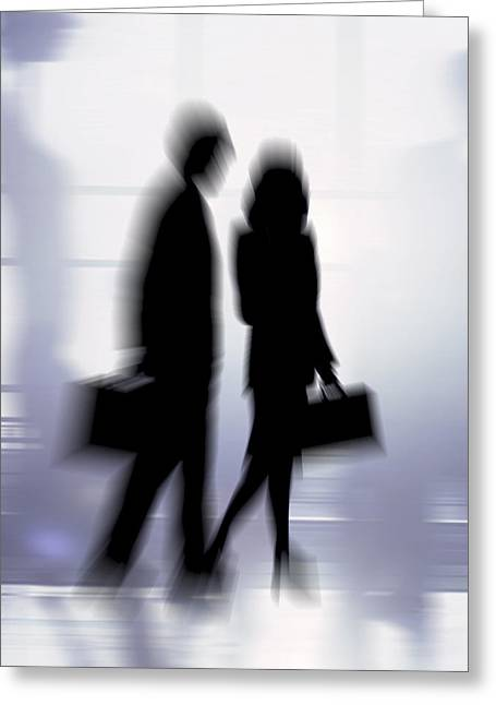 Two Persons Greeting Cards - Business People Greeting Card by Pasieka