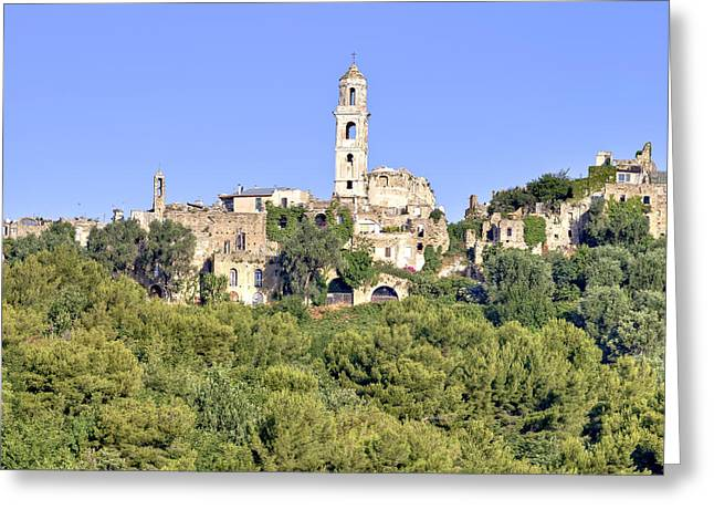Earthquake Greeting Cards - Bussana Vecchia - Liguria - Italy Greeting Card by Joana Kruse