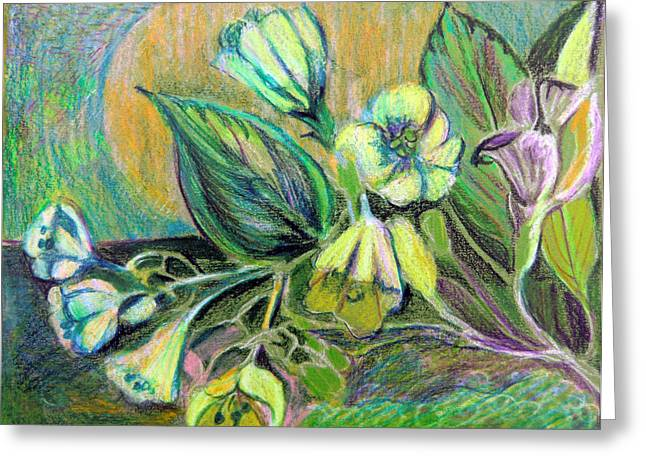 Surreal Landscape Pastels Greeting Cards - Buttercups Greeting Card by Mindy Newman