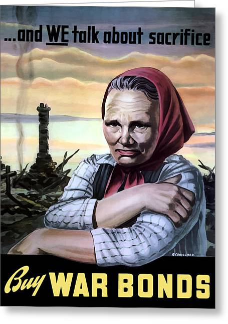 Buy Digital Art Greeting Cards - Buy War Bonds Greeting Card by War Is Hell Store