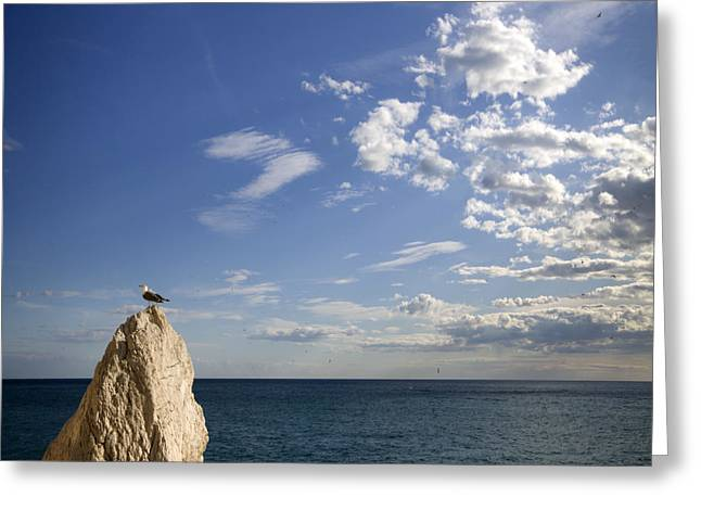 Costa Blanca Greeting Cards - By The Sea Greeting Card by Angel  Tarantella