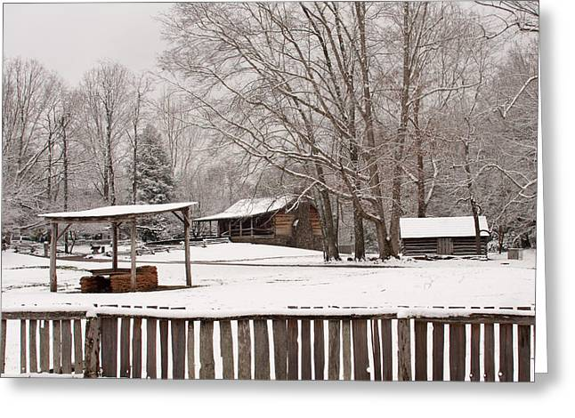 Tn Greeting Cards - Cades Cove Winter Greeting Card by Cindy  Shumpert