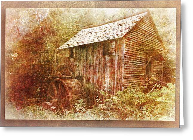 Warm Tones Greeting Cards - Cades Grist Mill Greeting Card by Barry Jones