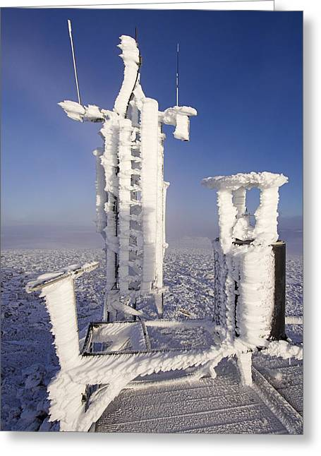 Automated Greeting Cards - Cairngorm Weather Station Greeting Card by Duncan Shaw